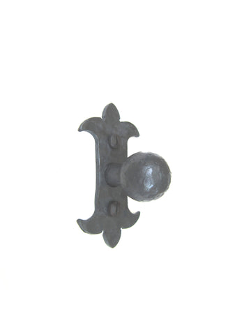 "Spanish Fleur De Lis Slim 4"" Iron Twisted Pull HPT14"
