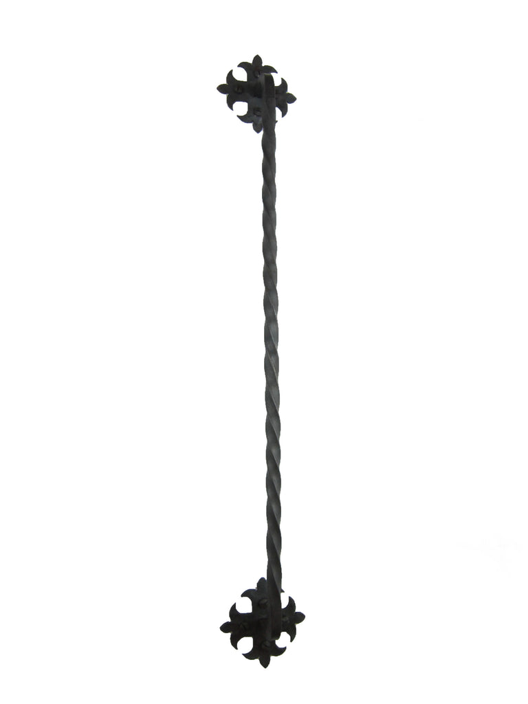 Rustic Spanish Style Long Twisted Iron Cabinet Pull HPB18