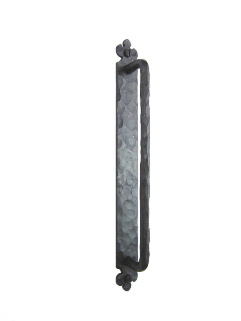 Rustic Spanish Club Hammered Round Iron Cabinet Pull 8 inch HPR89 - Bushere & Son Iron Studio Inc.
