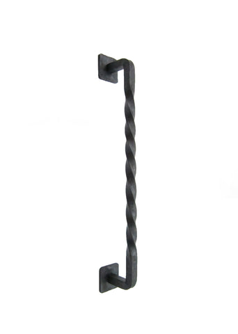 Farmhouse Twisted Wrought Iron Cabinet Pull 8 inch HPF8