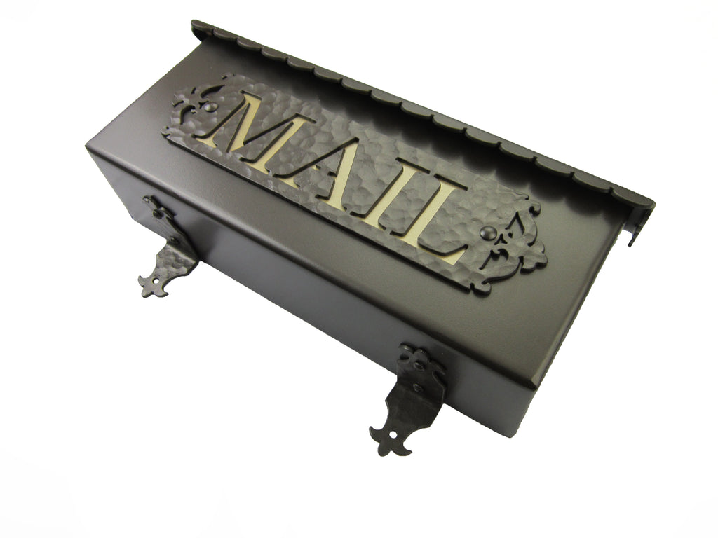 Traditional MAIL Wrought Iron Mailbox - Bushere & Son Iron Studio Inc.