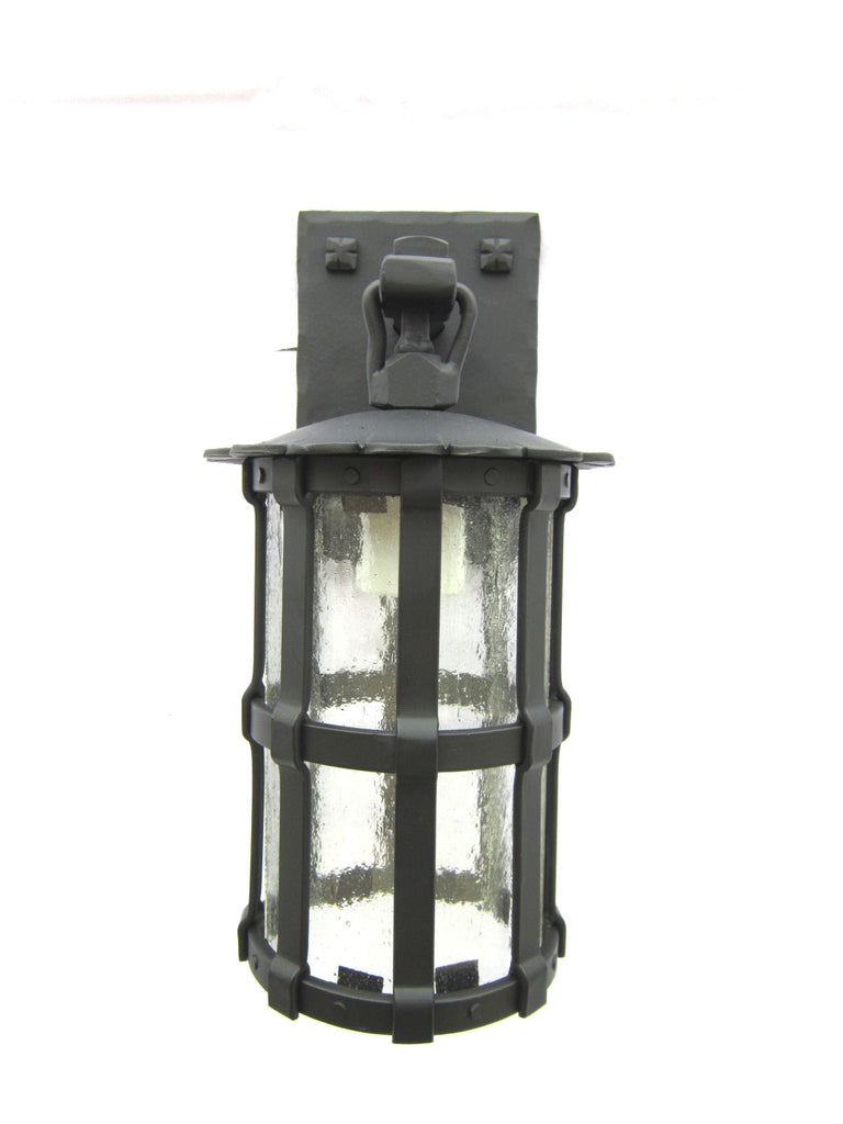 RSF small rustic Spanish Revival wrought iron exterior wall lantern LL3 - Bushere & Son Iron Studio Inc.