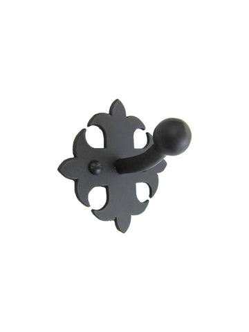 Rustic Spanish Fleur De Lis Wrought Iron Door Stop DS1