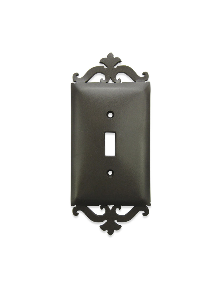 Classic Spanish Scroll Iron Switch Plate Cover Single Toggle SEPH2 - Bushere & Son Iron Studio Inc.