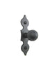 SHK15 Spanish spade iron cabinet knob slim smooth