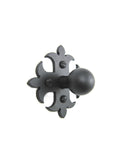 SHK1 Spanish style fleur de lis cross iron cabinet knob smooth