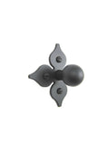 SHK21 Spanish style spade cross iron cabinet knob smooth