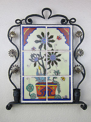 california tile taylor dancers in wrought iron frame