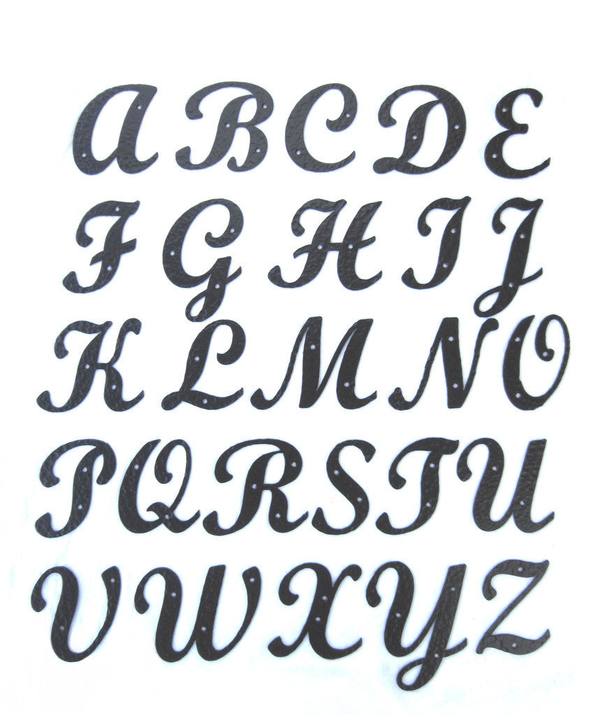 Standard Script Hammered Wrought Iron Alphabet Letters