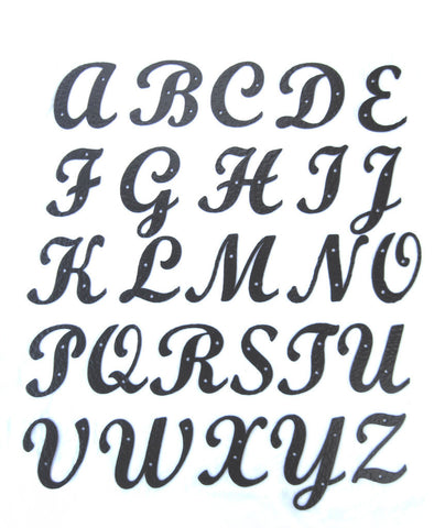 Standard smooth iron alphabet letters