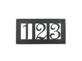 Rustic Custom Hammered Wrought Iron Address Plaque Horizontal APH23 (3number) - Bushere & Son Iron Studio Inc.