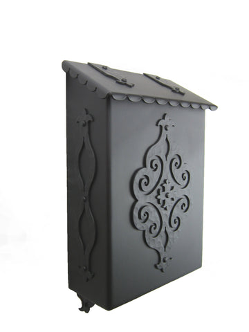 Spanish Fleur De Lis Hammered Iron Doorbell Cover D2
