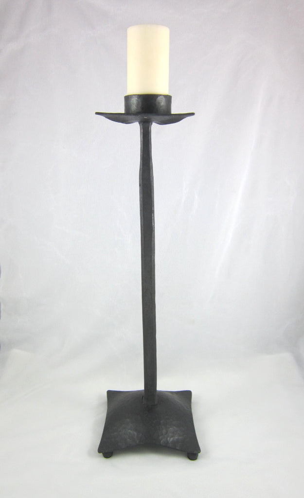simple wrought iron candle stick C15