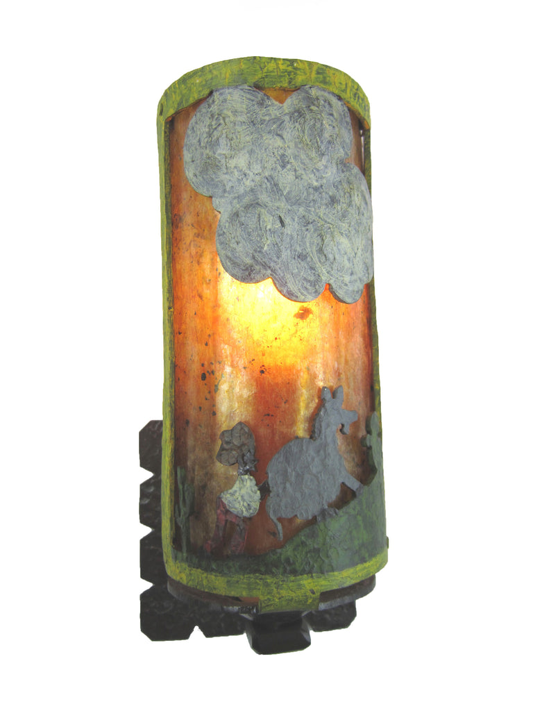 Monterey Style Lazy Donkey Wrought Iron Sconce