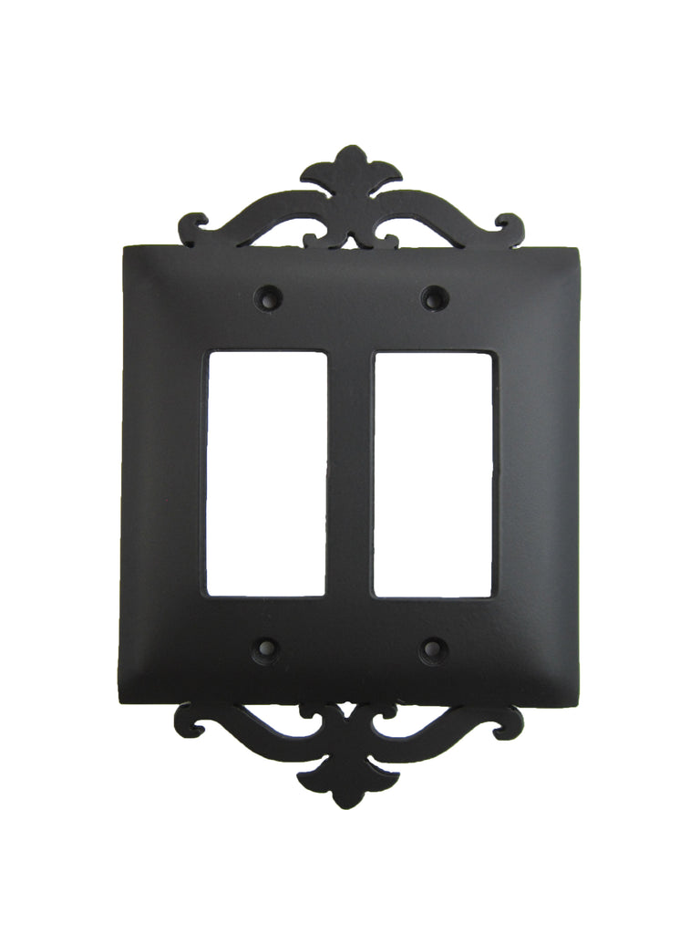 Classic Spanish Scroll Iron Switch Plate Double GFI SEPH25 - Bushere & Son Iron Studio Inc.