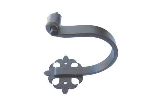 Spanish Style Wrought Iron Standard Round Bracket CRBR1S (single rod)