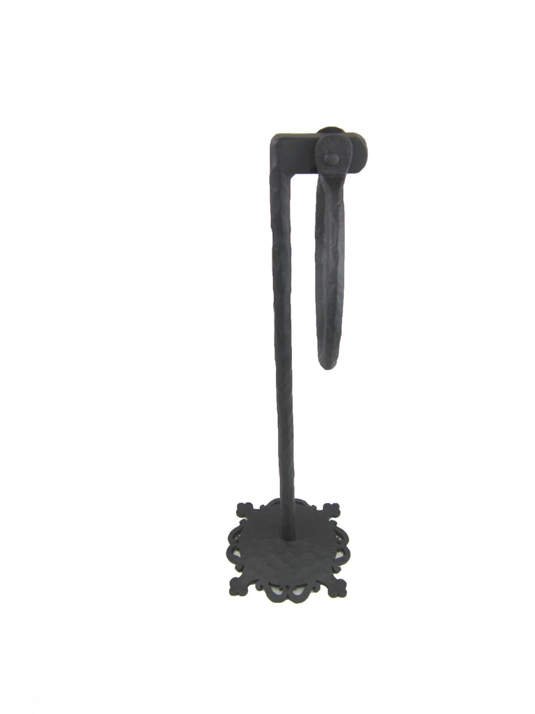 Rustic Spanish Style Wrought Iron Towel Ring Stand