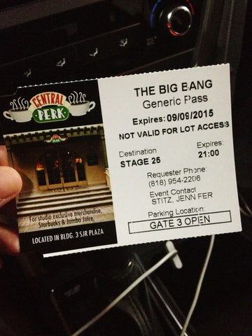 Big Bang Theory Parking Pass