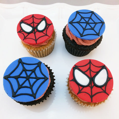 Spiderman Custom Cupcakes