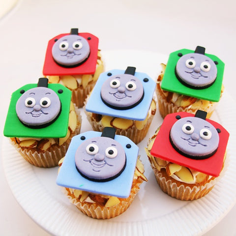 Thomas the Train Custom Cupcakes