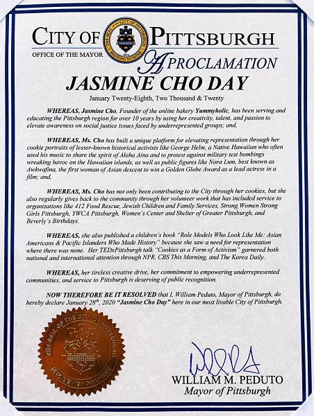 Jasmine Cho Day Proclamation