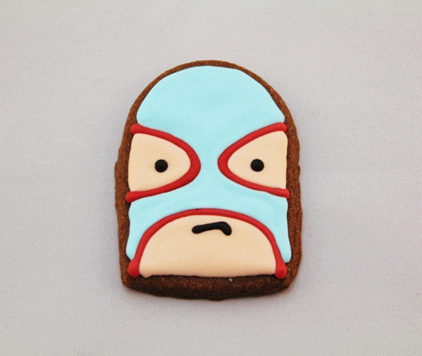 Lucha Face Chocolate Chili Cookie