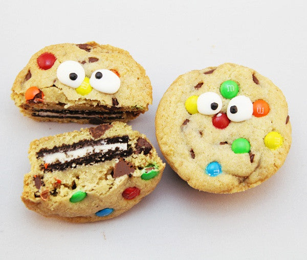 Chocolate Chip M&M Oreo Monster Cookie