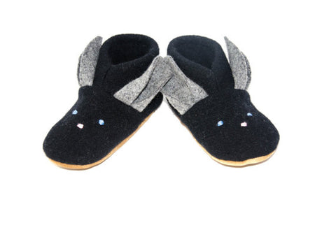 Easter Bunny Lambswool Slippers