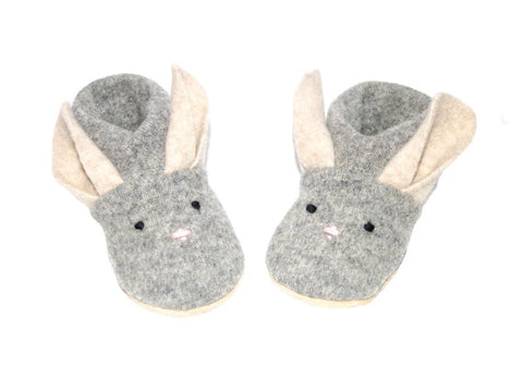 Easter Bunny Felted Wool Slippers, Felted kids footwear,  Baby Bunny Shoes, Kids Bunny Slippers, Easter Bunny Baby:  Custom Order