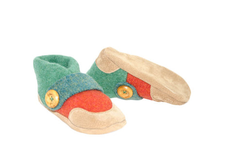 Kids Shoes, Felted Wool Moccasins