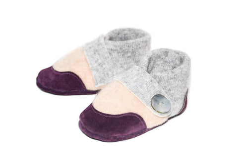 Baby Shoes, Cashmere Toddler Slippers:  Sizes: 0-12M, 6-18M & 12-24M