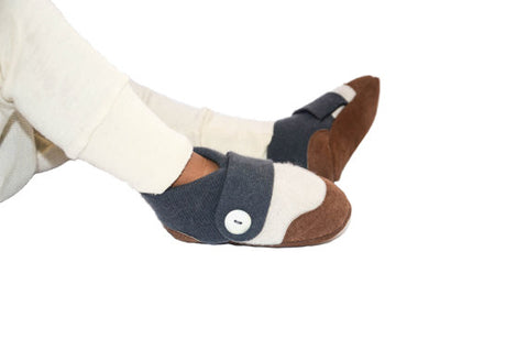 Kids Cashmere Slippers, Children Soft Cashmere Shoes