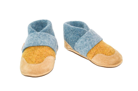 Kids Lambswool Moccasins, Toddler Slippers, Felted Wool Slippers