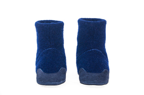 Kids Lambswool Shoes, Boy's Wool Boots, Soft Soled and Eco-friendly.  Blue Wool Shoes.  Sizes: Kids 7.0 -11.5. Blue Berries