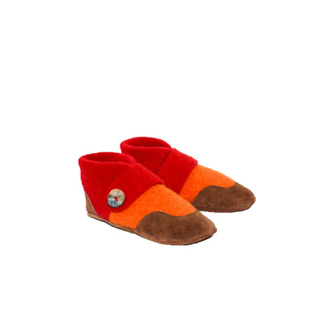 Felted Wool Slippers, Mary Jane Slhoes, Kids Felted Cashmere Slippers