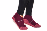 Unisex Cashmere Slippers from Recycled Materials, Eco-friendly Men & Women Cashmere and Leather Shoes. Size: USA Adults 6.5 -16