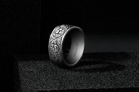 Men's 925 Sterling Silver Classic Band Ring - Atolyestone