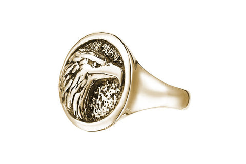 Men's Eagle Ring in Yellow Solid Gold