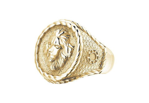 Men's Imperial Leo Ring in Solid Gold