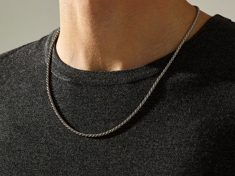 Men's 925 Sterling Rope Chain