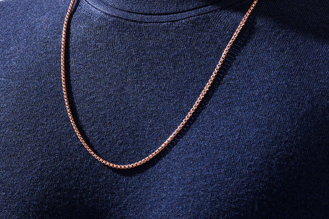 Box Chain in Rose Gold