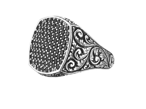 Classic Silver Cushion Pave Ring