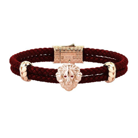 Diamond Leo Leather Bracelet