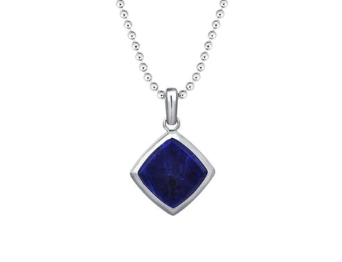 Blue Sodalite Prime Necklace Pendant in Silver