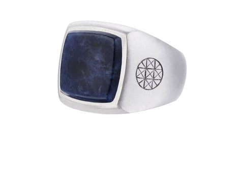 Blue Prime Ring with Sodalite in 925 Sterling Silver