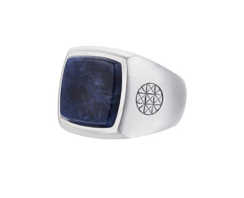 Men's Sodalite Silver Ring