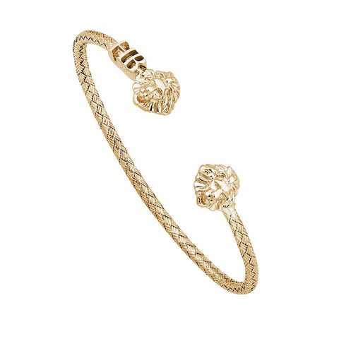 Statement Braided Leo Cuff Bracelet - Solid Silver
