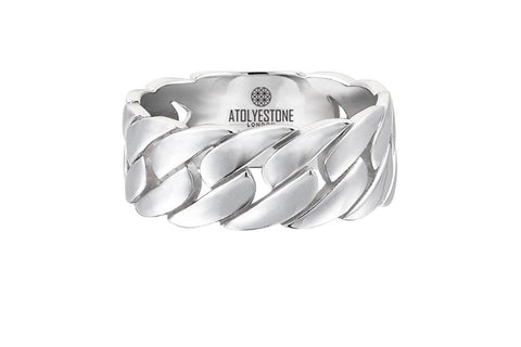 Men's Chain Ring in 925 Sterling Silver