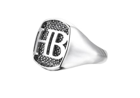 Men's Customizable Ring with Letters