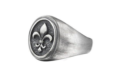 Fleur De Lis Ring in 925 Sterling Silver
